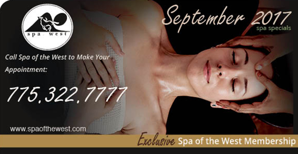 September:  Exclusive Spa Membership Offer