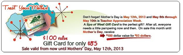 Mother's Day Gift Card Sale
