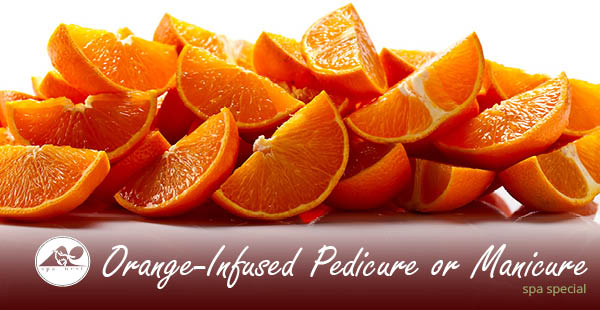 Orange-Infused Pedicure or Manicure